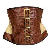 Субкультуры handmade. Livemaster - original item Steampunk corset with Nude effect. Handmade.