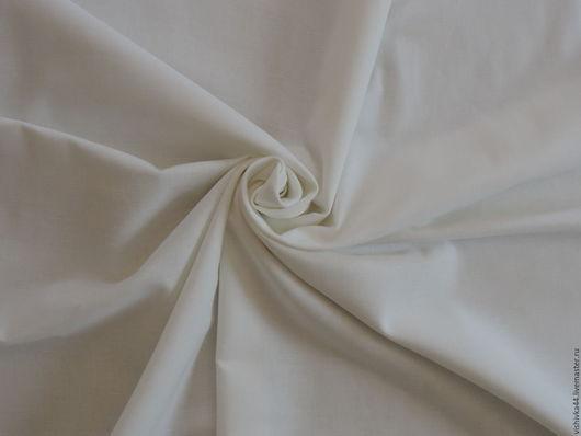 Шитье ручной работы. Ярмарка Мастеров - ручная работа. Купить Ткань лен хлопок белоснежный. Handmade. Натуральный лен