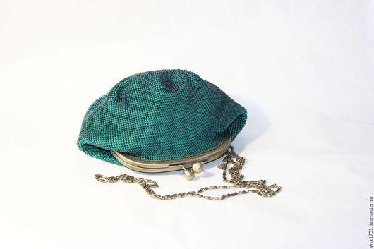 Женские сумки ручной работы. Ярмарка Мастеров - ручная работа. Купить сумочка бисерная Изумрудная радужная. Handmade. Морская волна