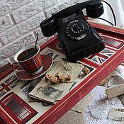 """Для дома и интерьера ручной работы. Ярмарка Мастеров - ручная работа Сервировочный столик-поднос """"Сэр! Английский завтрак!..в постель"""". Handmade."""
