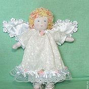текстильная кукла  Кудрявый Ангелочек