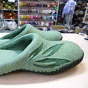 Обувь ручной работы. Ярмарка Мастеров - ручная работа Тапочки домашние валяные. Handmade.