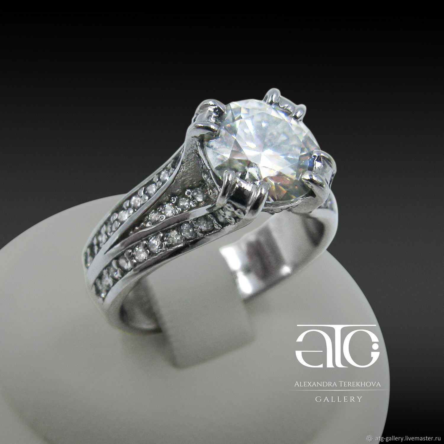 Made to order in any performance. Very elegant, very beautiful ring!