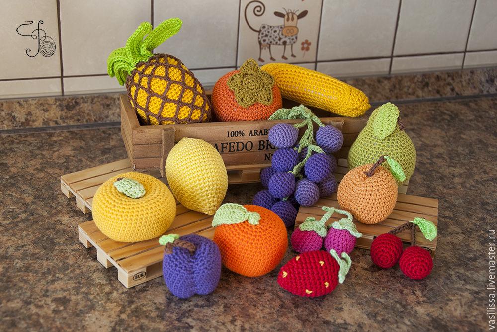 имущества картинки фрукты и овощи вязаные крючком душа