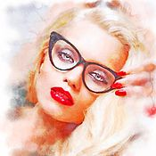 Картины и панно ручной работы. Ярмарка Мастеров - ручная работа Портрет по фото (Эбби Ли). Handmade.