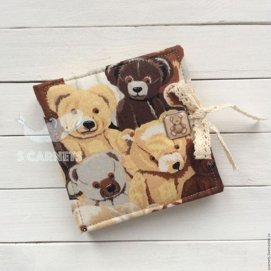 """Записные книжки ручной работы. Ярмарка Мастеров - ручная работа. Купить Мини-скетчбук """"Teddy Bears"""" brown. Handmade. Коричневый"""