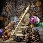 Материалы для творчества handmade. Livemaster - original item The spindle for spinning the Siberian Cedar Wooden spindle #B23. Handmade.