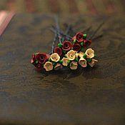 """Украшения ручной работы. Ярмарка Мастеров - ручная работа Шпильки для волос """"Розы для волос"""". Handmade."""
