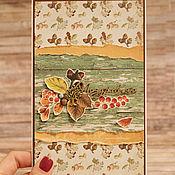 """Открытки ручной работы. Ярмарка Мастеров - ручная работа Открытка """"Краски осеннего леса"""" (подарок женщине, мужчине). Handmade."""