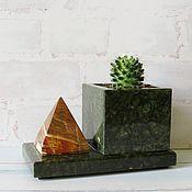 Pots1 handmade. Livemaster - original item Pots made of stone and onyx. Handmade.