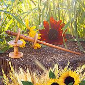 Материалы для творчества handmade. Livemaster - original item Wooden Spindle for spinning with Coils (2#38. Handmade.