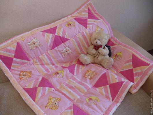 Пледы и одеяла ручной работы. Ярмарка Мастеров - ручная работа. Купить Детское лоскутное одеяло. Handmade. Детское лоскутное одеяло