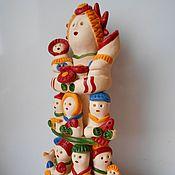 Куклы и игрушки ручной работы. Ярмарка Мастеров - ручная работа Хлудневская игрушка. Барыня с детьми.. Handmade.
