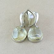 Украшения handmade. Livemaster - original item Earrings & ring citrine. Faceted citrine.. Handmade.
