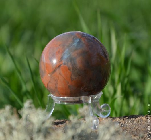 Фен-шуй ручной работы. Ярмарка Мастеров - ручная работа. Купить Шар, ирнимит. Handmade. Комбинированный, шар из камня