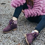 Обувь ручной работы. Ярмарка Мастеров - ручная работа Ботиночки шерстяные Любочка. Handmade.