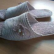 Обувь ручной работы handmade. Livemaster - original item Slippers - flip flops ( cotton ). Handmade.