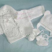 """Работы для детей, ручной работы. Ярмарка Мастеров - ручная работа Костюмчик  """"Белый мишка"""". Handmade."""