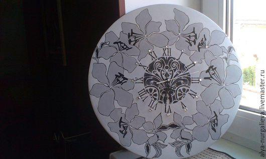 Часы для дома ручной работы. Ярмарка Мастеров - ручная работа. Купить Романтичная история. Handmade. Серый, часы, часы настенные