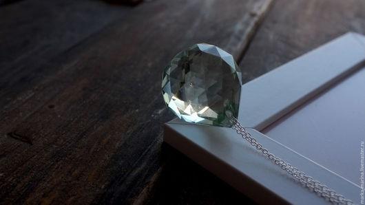 Кулоны, подвески ручной работы. Ярмарка Мастеров - ручная работа. Купить Крупный кристалл на серебряной цепочке. Handmade. Кристалл