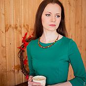 """Украшения ручной работы. Ярмарка Мастеров - ручная работа Колье """"В гостях у осени""""(красный,рыжий,зеленый). Handmade."""