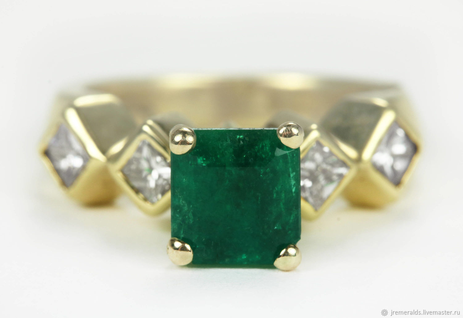 2.40tcw Colombian Emerald & Diamond Ring 14k, Architectural Ring, Geom, Rings, West Palm Beach,  Фото №1