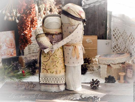 """Народные куклы ручной работы. Ярмарка Мастеров - ручная работа. Купить кукла-оберег Семейная пара """"Тихое счастье"""".. Handmade."""