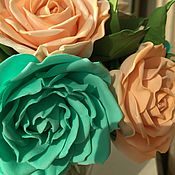 Цветы и флористика ручной работы. Ярмарка Мастеров - ручная работа Букет роз из фоамирана. Handmade.