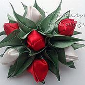 Украшения handmade. Livemaster - original item The First tulips brooch. Handmade.