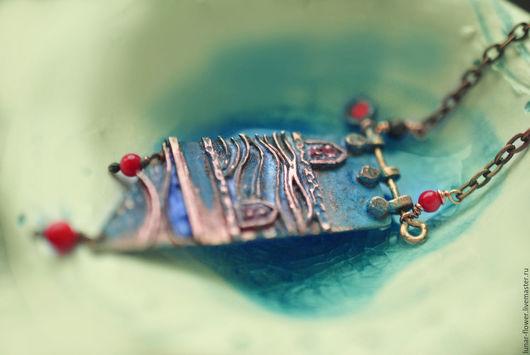 Кулоны, подвески ручной работы. Ярмарка Мастеров - ручная работа. Купить Кулон Воды Норвегии. Handmade. Подвеска, море, берег