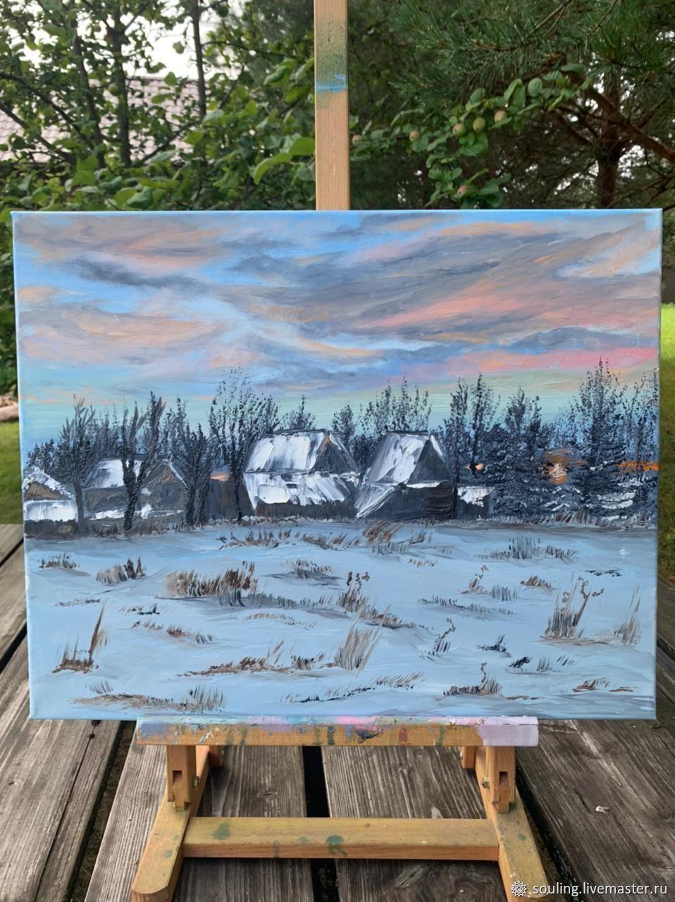 Зимой в деревне, Картины, Москва,  Фото №1