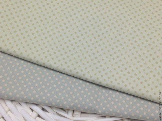 Шитье ручной работы. Ярмарка Мастеров - ручная работа. Купить Ткань Tilda Mini Star Light Green / Grey. Handmade.
