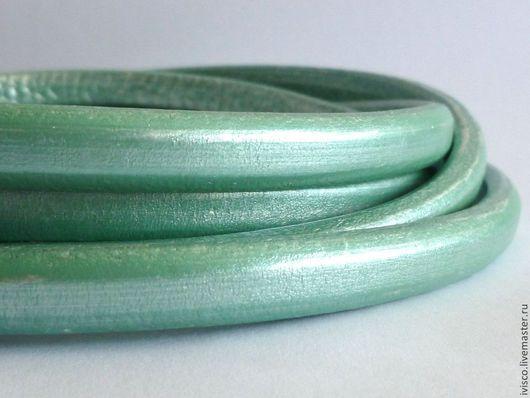 Для украшений ручной работы. Ярмарка Мастеров - ручная работа. Купить Шнур Регализ 10х6мм мятно-голубой перламутровый. Handmade.