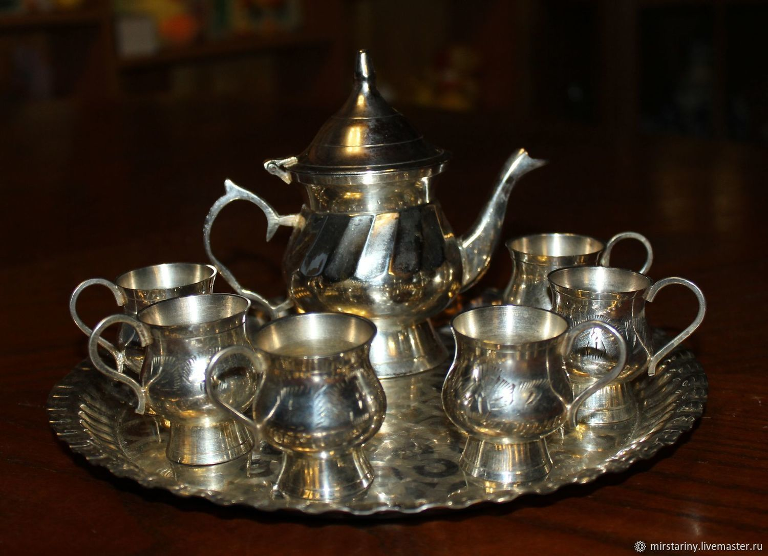 Vintage set of liquor, silver, India, 1970-ies, Vintage sets, Moscow,  Фото №1