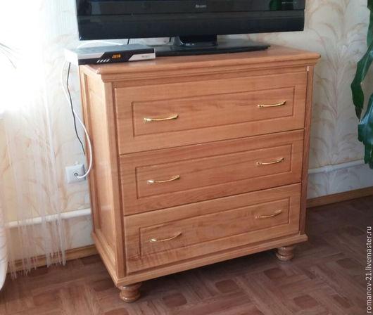 Мебель ручной работы. Ярмарка Мастеров - ручная работа. Купить Комод с 3-мя ящиками из дуба. Handmade. Бежевый, гостинная