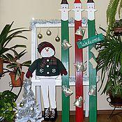 Подарки к праздникам ручной работы. Ярмарка Мастеров - ручная работа Веселый снеговик. Handmade.