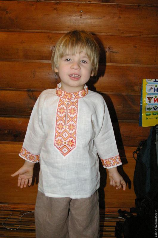 """Одежда ручной работы. Ярмарка Мастеров - ручная работа. Купить Детская рубаха""""Алатырь"""". Handmade. Белый, рубаха в русском стиле"""