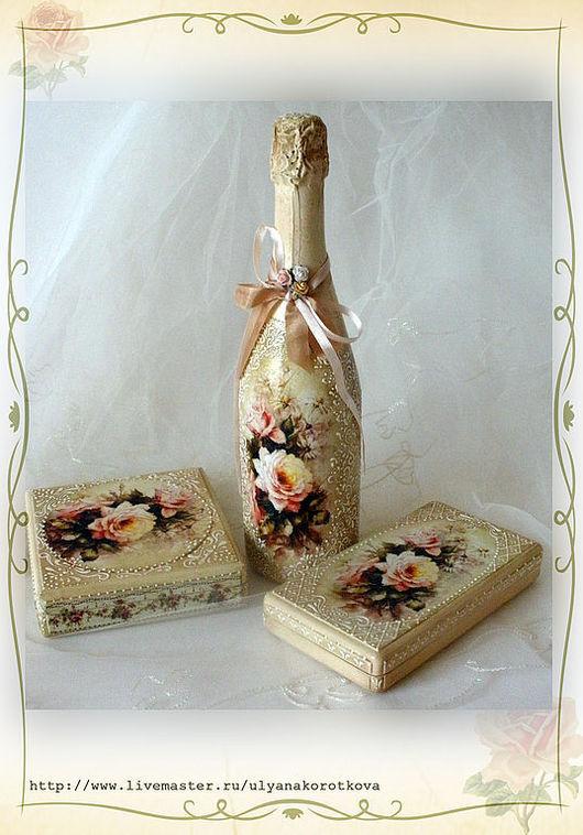 """Подарки для влюбленных ручной работы. Ярмарка Мастеров - ручная работа. Купить Подарочный свадебный набор """"Кружева"""". Handmade. Розы"""