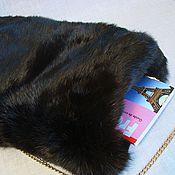 Муфты ручной работы. Ярмарка Мастеров - ручная работа Муфта  меховая Черный кролик. Handmade.