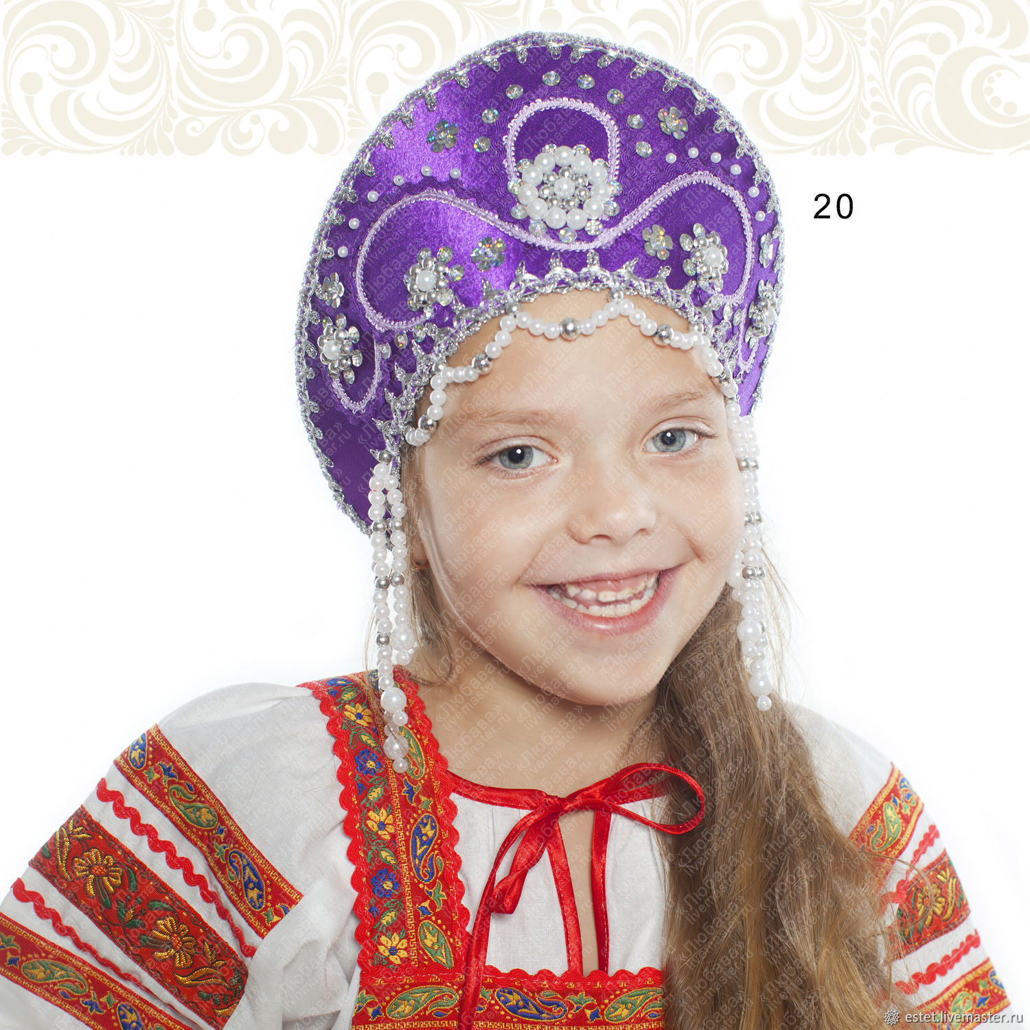 Slavic headpieces Kotena, Kokoshnik, Russian crown, Folk headdress, Ru, Kokoshnik, Korolev,  Фото №1