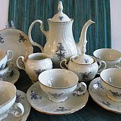 Винтаж handmade. Livemaster - original item Tea set Bernadotte Porcelain Czechoslovakia EXT. comp.. Handmade.