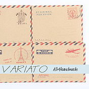 Материалы для творчества ручной работы. Ярмарка Мастеров - ручная работа Мини крафт-конверт винтаж. Handmade.
