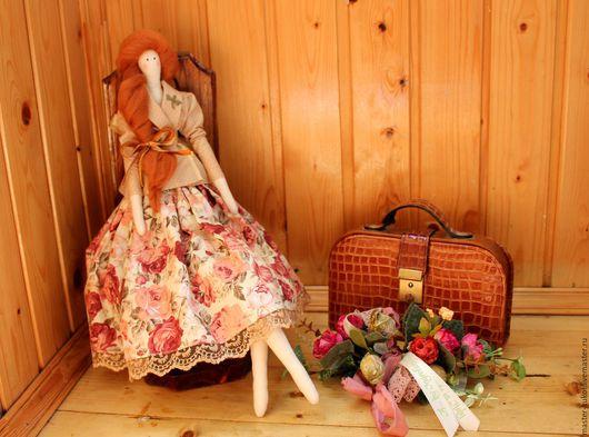 """Куклы Тильды ручной работы. Ярмарка Мастеров - ручная работа. Купить Тильда """"Путешественница"""". Handmade. Бежевый, тильда, рыжий"""