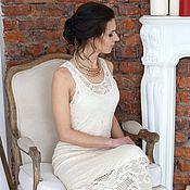 Одежда ручной работы. Ярмарка Мастеров - ручная работа Платье из итальянского хлопка. Handmade.