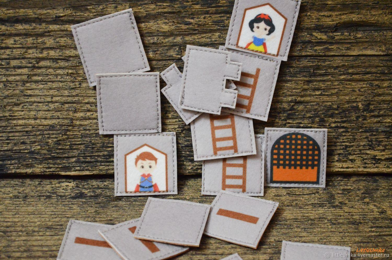 """Развивающие игрушки ручной работы. Ярмарка Мастеров - ручная работа. Купить """"Замок для принцессы"""" - стройматериал на липучке, мозаика. Handmade. Серый"""