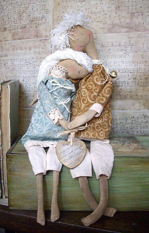 Ароматизированные куклы ручной работы. Ярмарка Мастеров - ручная работа. Купить Одно сердце на двоих.... Handmade. Парочка, двое