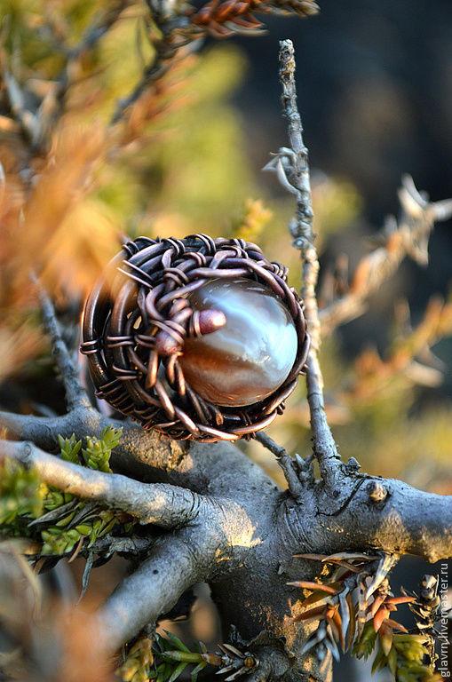 Кольца ручной работы. Ярмарка Мастеров - ручная работа. Купить Перстень Лес видит.... Handmade. Коричневый, лесной