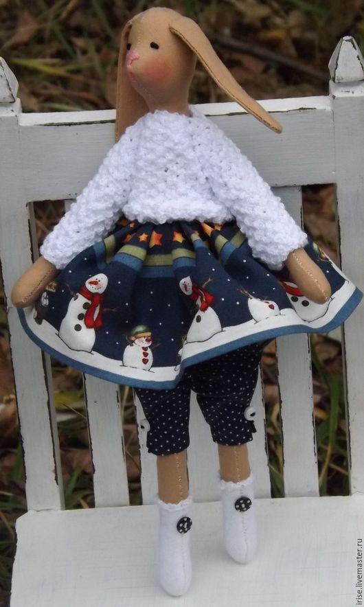 Новый год 2017 ручной работы. Ярмарка Мастеров - ручная работа. Купить Зайка текстильная  Подружка снеговика. Handmade. Текстильная игрушка