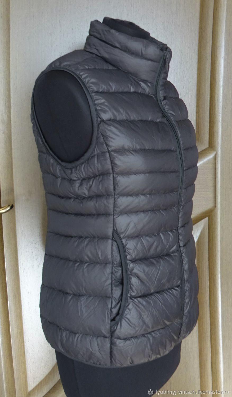 Винтаж: ZERO, премиум, пуховой стеганый черный жилет, 48 (М), Германия, Одежда винтажная, Анапа,  Фото №1
