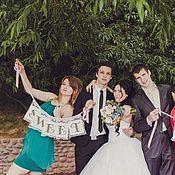 Свадебный салон ручной работы. Ярмарка Мастеров - ручная работа Свадебные растяжки на гипюре. Handmade.